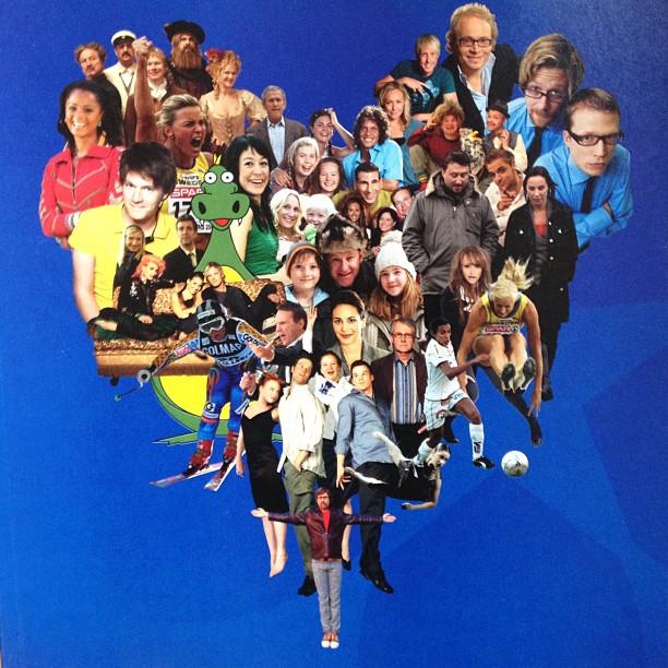 Framsidan till Svt:s årsredovisning 2006. Hittar du mig? Nån la Katarina Sandströms ansikte över mitt :) #svtprofil
