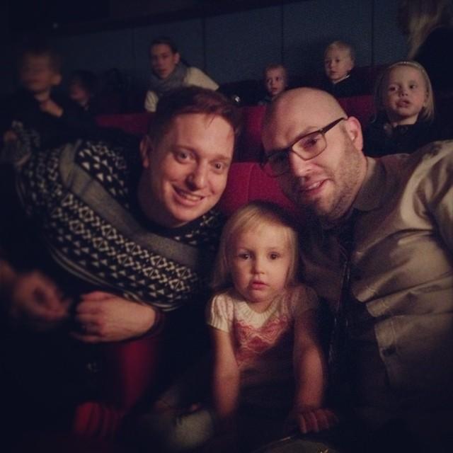 Biomys med @cabinstreet & Lisen (som va sjukt grym på att biografa). Premiär av #emilochida Sköj!